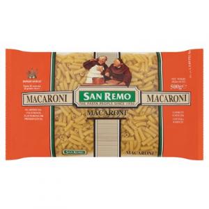 SAN REMO D/PASTA MACARON 1 X 500G