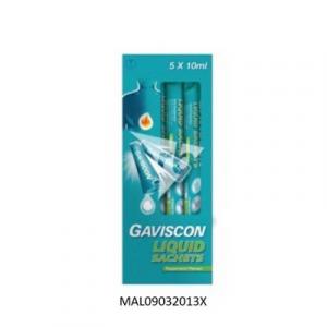 GAVISCON LIQUID PEPPERMINT 1X5X10ML