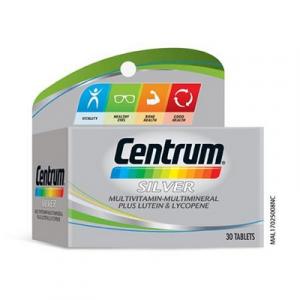 CENTRUM SILVER M/VITAMIN+LTN&LYCO 1X30'S