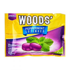 WOOD'S PEPPERMINT DROPS - B/CURRANT 1X15G