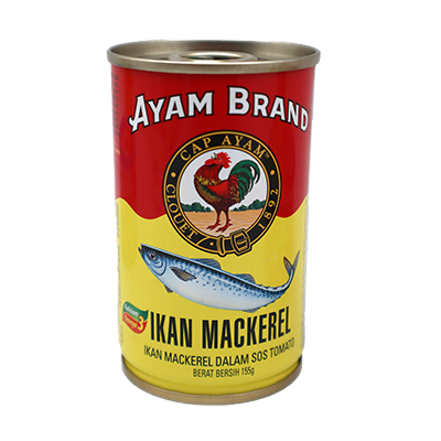 AYAM BRAND MACKERELS TOM 1x155G