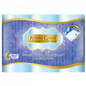 ROYAL GOLD KITCHEN TOWEL 1X6X60'S