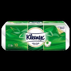 KLEENEX BT U/SOFT ALOE 3PLY 1X10X190'S
