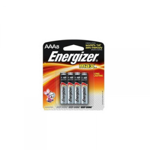 ENERGIZER MAX AAA (E92BP8M) 1X8'S