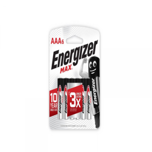 ENERGIZER MAX AAA X 6 (E92BP6M) 1X6'S