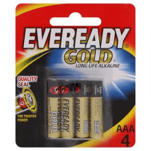 EVEREADY GOLD AAA  X 4 (A92BP4M) 1X4'S