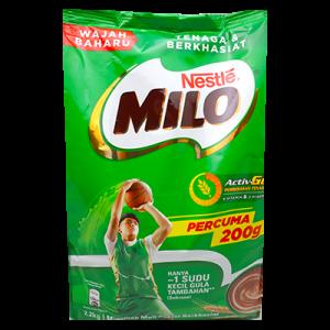 MILO S/PACK FREE 200g 1X2KG