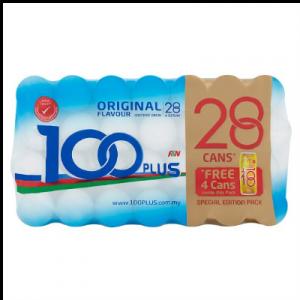 100 PLUS CAN  ORIGINAL 24+4 28X 325ML