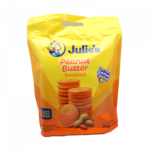 JULIE'S PEANUT BUTTER S/WICH 1X360G