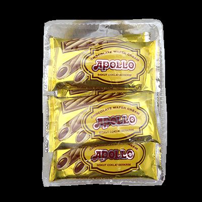APOLLO CHOC WAFER CREAM 1x12X15G