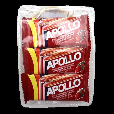 APOLLO STICK WAFER S/BERRY 1x12X15G
