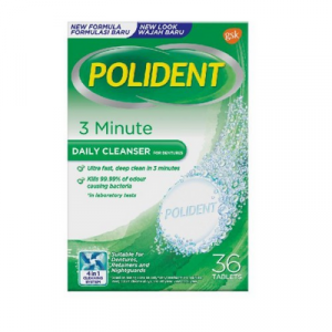 POLIDENT DAILY CLEANSER 3 MNT 1X36'S