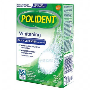 POLIDENT DAILY CLEANSER WHTNG 1X36'S