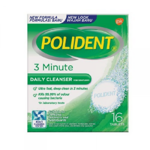 POLIDENT DAILY CLEANSER 3 MNT 1X16'S