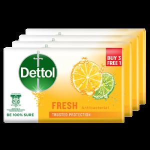 DETTOL BAR SOAP SOAP FRESH 3+1 1X4X65G