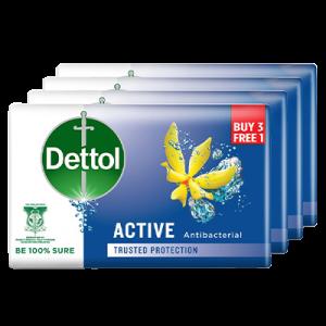 DETTOL BAR SOAP ACTIVE 3+1 1X4X65G