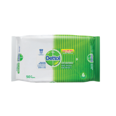 DETTOL A/BACT WET WIPES 1X50'S