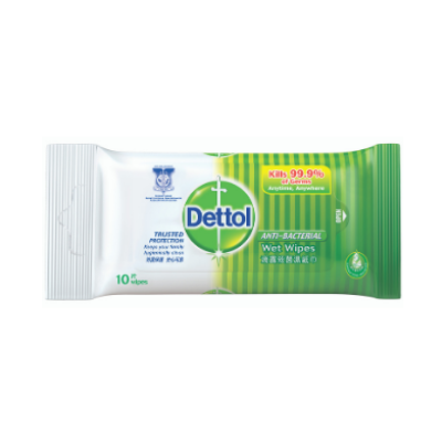 DETTOL A/BACT WET WIPES 1X10'S