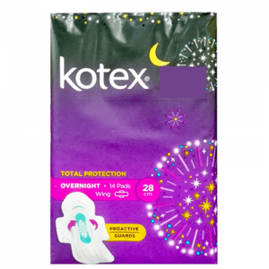KOTEX PAG OVERNIGHT WING 28CM 1X14'S