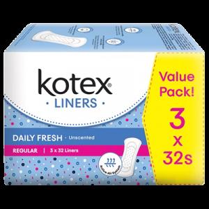 KOTEX FRESH LINER REG UNSENTED 1X3X40'S