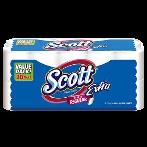 SCOTT EXTRA TOILET TISSUE 1 X 20X180