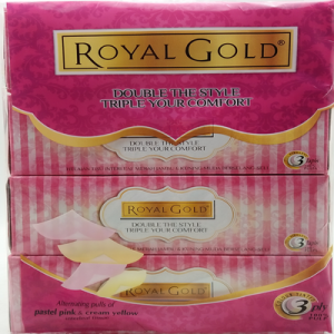ROYAL GOLD TWIN TONE BOX TISSUE 80'S 1X4X80'S
