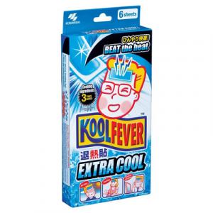KOOLFEVER COOLING GEL SHEET (ADULT-6PC) 1X1BX