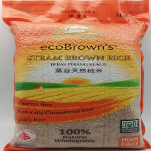 ECO BROWN'S STEAM BROWN RICE 1X5KG