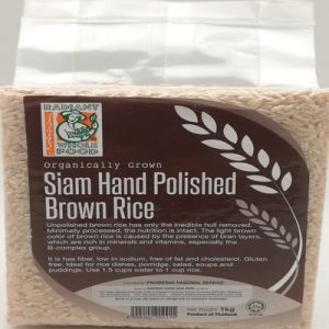 RADIANT SIAM HAND POLISHED BROWN RICE 1X1KG