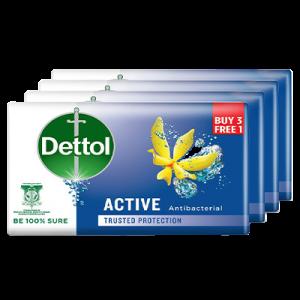 DETTOL BAR SOAP 3+1 ACTIVE 1X4X100G