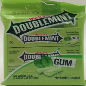 DOUBLEMINT CHEWING GUM PELLET 1X3X14.6G