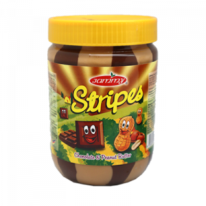 JAMMY P.BUTTER STIPES CHOCOLATE 1X510G