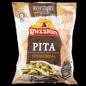 MISSION PITA WHOLEMEAL 1X400G