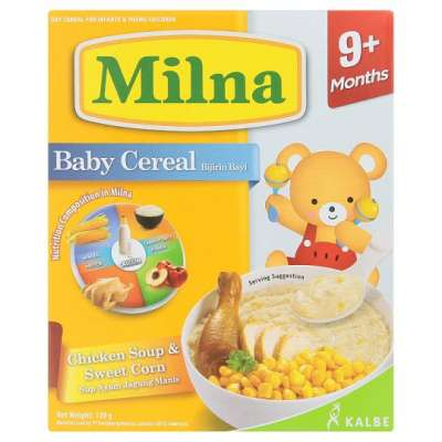 MILNA BABY CRL C/SOUP & SWT CORN 1X120G