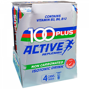 100 PLUS ACTIVE CAN 4X300ML