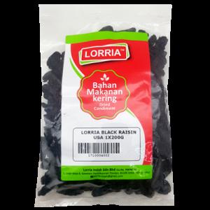 LORRIA BLACK RAISIN USA 1X200G