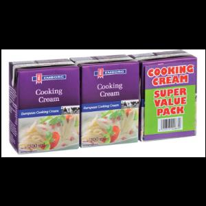EMBORG COOKING CREAM VALUE PACK 3X200ML