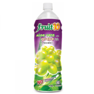 FRUIT 10 ALOE VERA GRAPE JUICE 1.5L