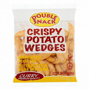 DOUBLE SNACK POTATO WEDGES CURRY 1X900G