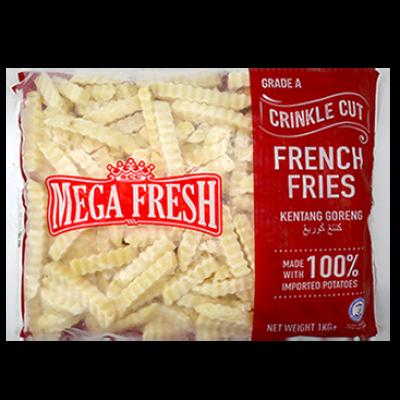 MEGA FRESH FRIES CRINKLE CUT A 1X1KG