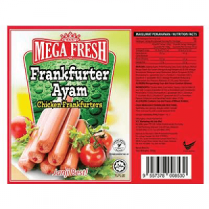 MEGA FRESH CHICKEN FRANKFURTER 1X300G