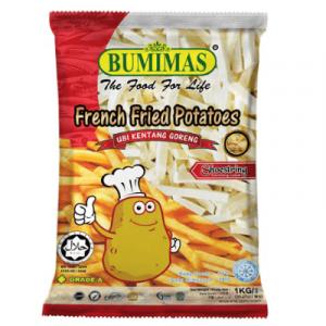BUMIMAS FRENCH FRIES SHOESTRING 1X1KG