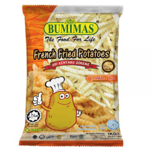 BUMIMAS FRENCH FRIES CRINKLE CUT 1X1KG