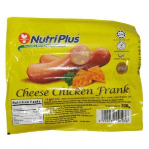 NUTRIPLUS CHEESE CHICKEN FRANK 1X300G