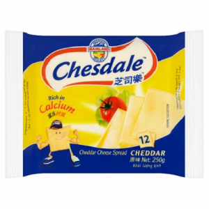 CHESDALE CHEDDAR SLICE CHEESE 12' 1X250G