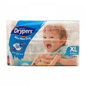 DRYPERS WEE WEE JUMBO PACK XL36 1X1PACK
