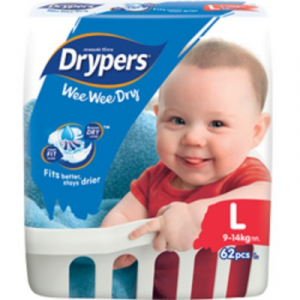DRYPERS WEE WEE DRY MEGA L62 1X1PACK