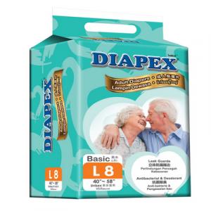 DIAPEX BASIC ADULT DIAPER L8 1X8S