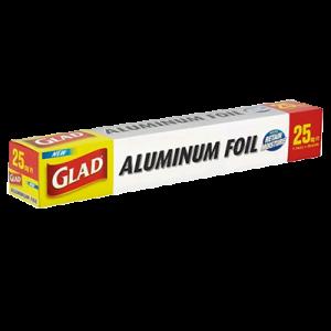 GLAD ALUMINIUM FOIL 25SQ FT 1X1SET
