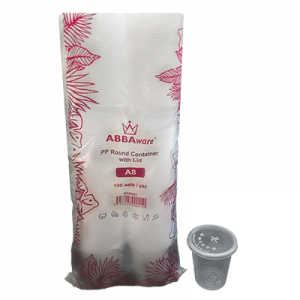 ABBAWARE CONTAINER W/LID A8  100'S